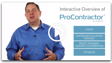 Interactive ProContractor Demo by Viewpoint